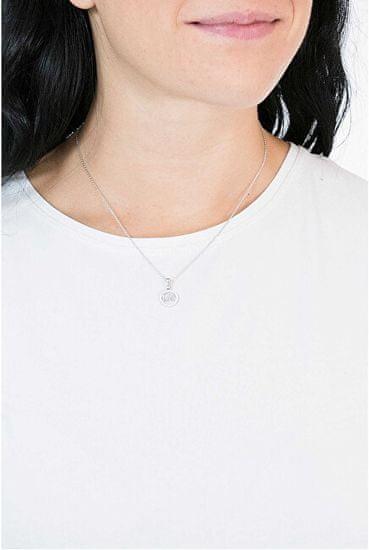 Michael Kors Bronzový náhrdelník s trblietavým príveskom MKC1108AN791 (retiazka, prívesok) striebro 925/1000