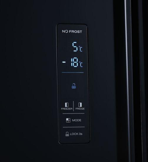 Heinner HSBS-H442NFBKE++ ameriški hladilnik