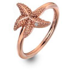 Hot Diamonds Luxusní růžově zlacený prsten s pravým diamantem Daisy RG DR212 (Obvod 56 mm) stříbro 925/1000