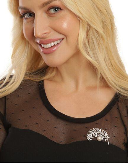 JwL Luxury Pearls Čudovito perlasto biserno broško JL0699