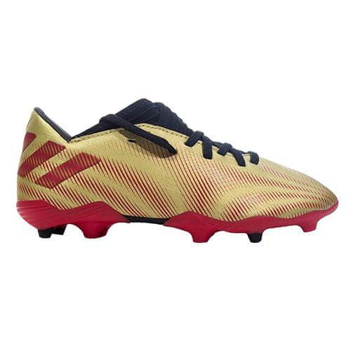 Adidas NEMEZIZ MESSI .3 FG J, NEMEZIZ MESSI .3 FG J | FY0807 | GOLDMT / SCARLE / CBLACK | 4.5