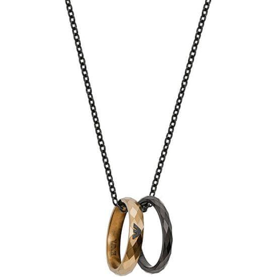 Emporio Armani Stylový ocelový náhrdelník s kroužky EGS2760001