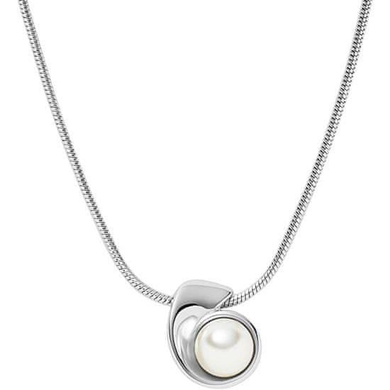 Skagen Šarmantna jeklena ogrlica z biserno Agnethe SKJ1366040