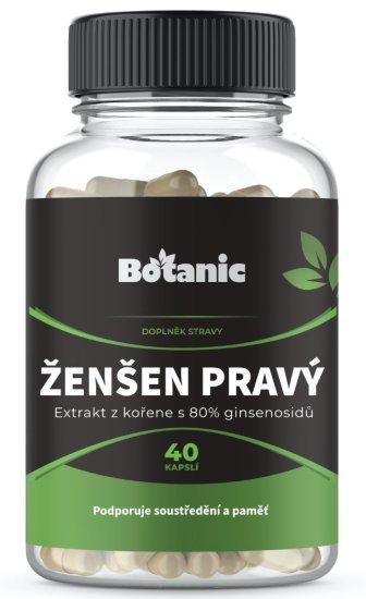 Botanic Ženšen 80% ginsenosidů 40 kapslí