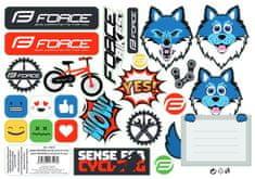 Force Nálepky KIDDIE, mix 23 kusů
