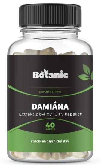 Botanic Damiána extrakt 10:1 40 kapslí