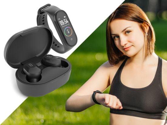 LEDWOOD Kepler bežične slušalice + sportska narukvica, crne