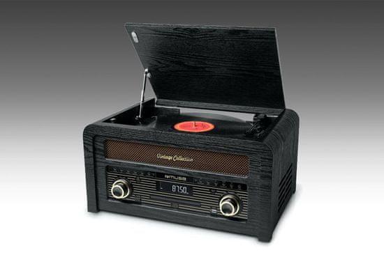 Muse MT-115W, gramorádio s CD a USB, černá