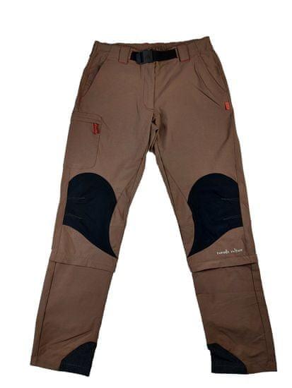 MAYA MAYA Moške hlače za pohodništvo, treking in aktivnosti na prostem, rjave - Nomad