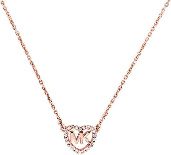 Michael Kors Bronzový náhrdelník so srdiečkom MKC1244AN791 striebro 925/1000