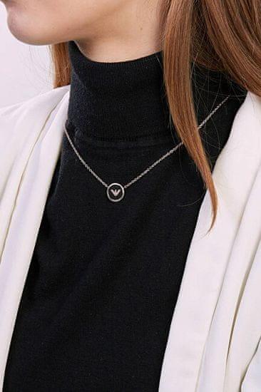 Emporio Armani Bronzový náhrdelník s logem EGS2533221
