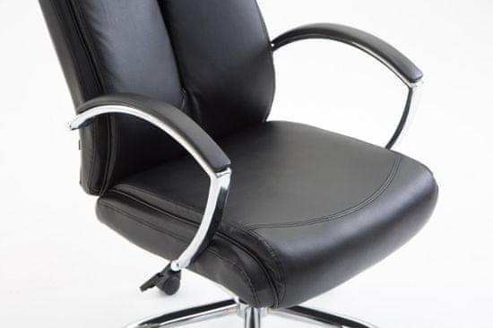 BHM Germany Kancelárske kreslo Vaud, syntetická koža, čierna