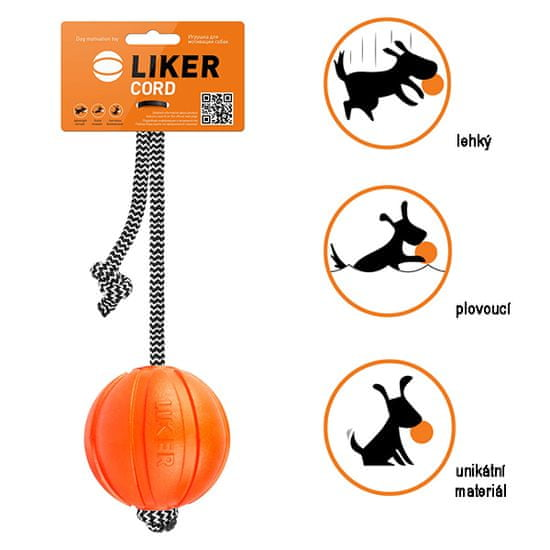 Puller Míček pro psy 9 cm - Liker Cord