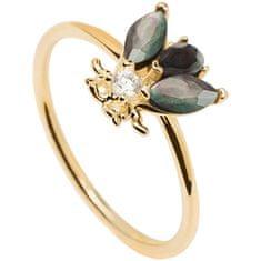 PDPAOLA Eredeti aranyozott gyűrű gyönyörű méhecskével ZAZA Gold AN01-225 (Kerület 50 mm) ezüst 925/1000