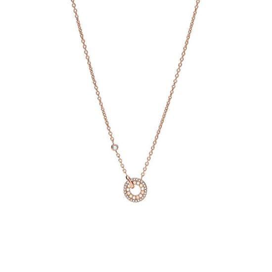 Fossil Módní bronzový náhrdelník Classics JF03543791