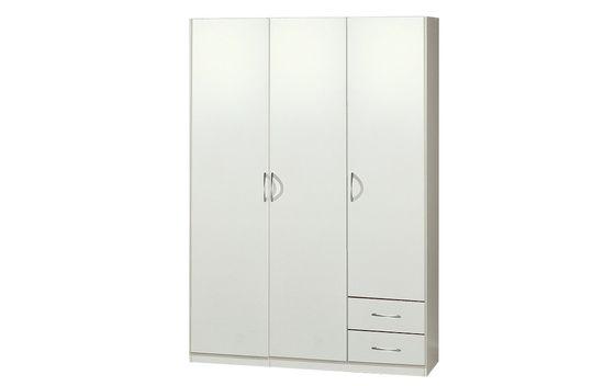 Garderobna omara 3D206 s predali, bela