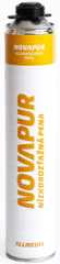 Allmedia Montážna PU pena nízkoexpanzná NOVAPUR 750 ml pištoľová