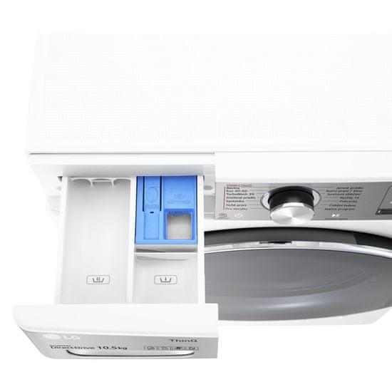 LG automatická parní pračka F610V10RW2W + 10 let záruka na motor