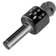MG Bluetooth Karaoke mikrofón s reproduktorom, čierny