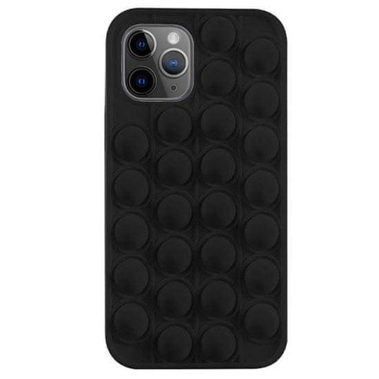 MG Pop It szilikon tok iPhone 12 / 12 Pro, fekete