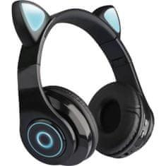MG B39 brezžične slušalke z mačjimi ušesi, črna