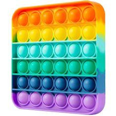 MG Bubble Pop It antistresová hračka, kocka, multicolor