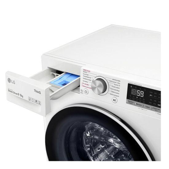 LG automatická parní pračka se sušičkou F4DV709H0E + 10 let záruka na motor