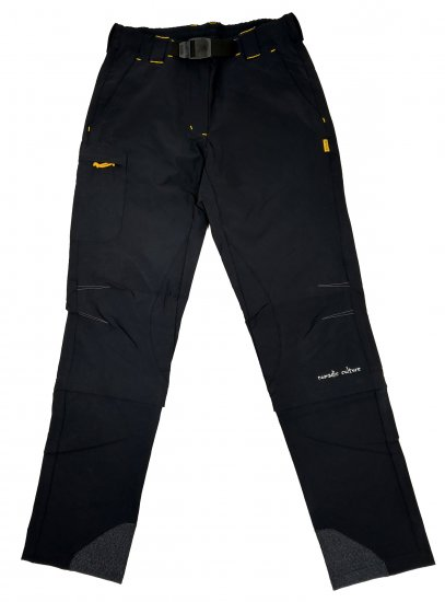 MAYA MAYA Moške hlače za pohodništvo, treking in aktivnosti na prostem, črne - Nomad