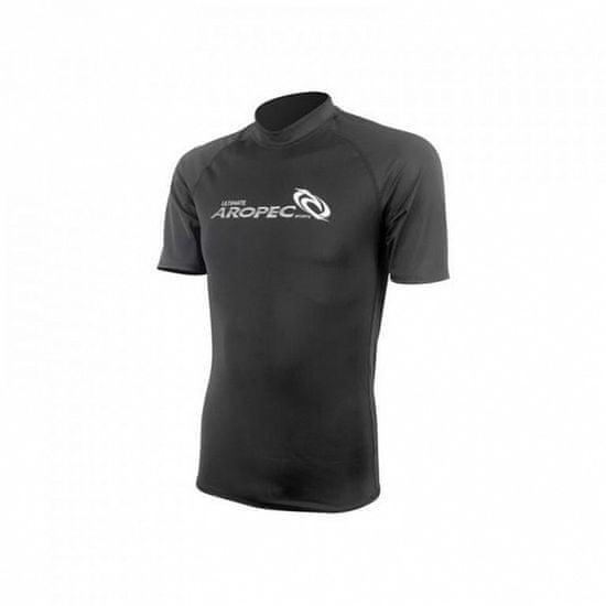 Aropec Pánske lycrové tričko BLACK, krátky rukáv