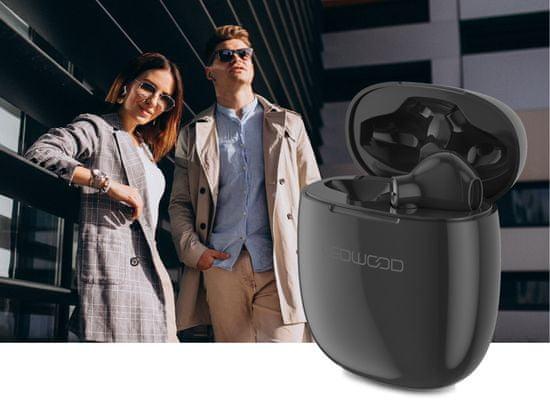 LEDWOOD Explorer bežične slušalice, crne