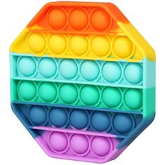 MG Bubble Pop It antistresová hračka, osemuholník, multicolor