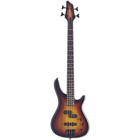 Stagg BC300-SB, elektrická basgitara, sunburst