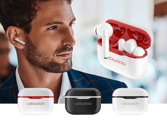 LEDWOOD Capella bežične slušalice, crvene