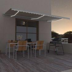 shumee Avtomatska tenda LED + senzor 600x300 cm krem
