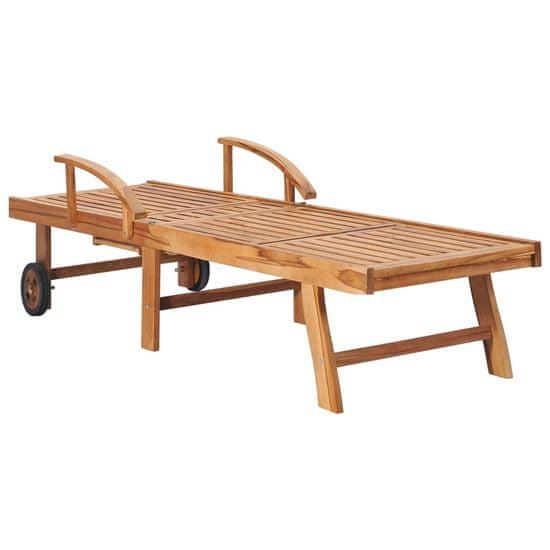 shumee  Lehátka s vankúšmi a stolom 2 ks teakové drevo