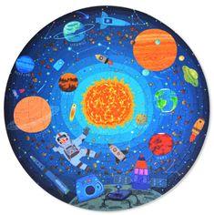 Mideer okrúhle puzzle - Cestovanie vesmírom