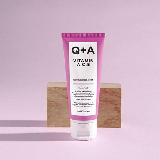 Q+A Maska przeciwutleniająca z witaminami A, C, E (Warming Gel Mask) 75 ml