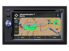 BLAUPUNKT San Diego 530 2 din autórádió, mechanikával, CD, DVD/MP3, MP4 lejátszás, GPS, RDS FM rádió, fekete