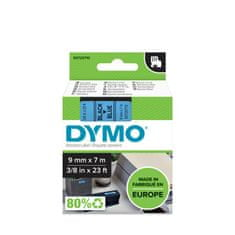 Dymo D1, 9mm/7m, trak za tiskanje nalepk, črno-moder (40916)