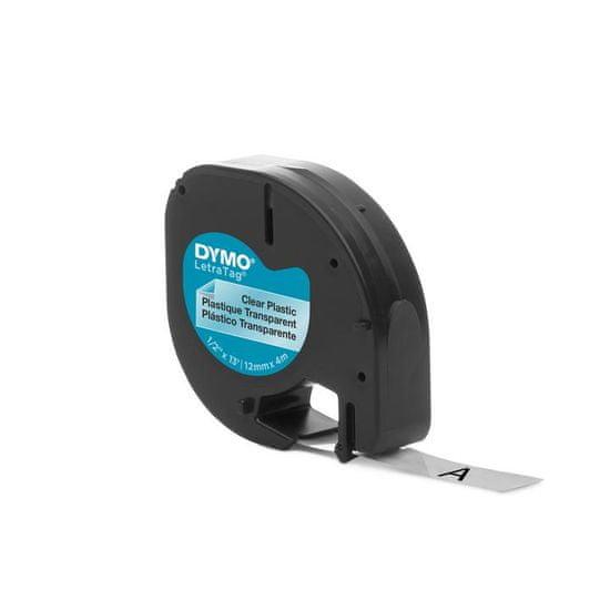 Dymo traka LetraTag, širina 12mm, prozirno-plastificirana, 12267