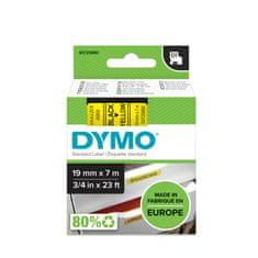 Dymo Trak za tiskanje nalepk D1, širina 19 mm, črno/rumen, 45808