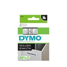 Dymo D1, 12mm/7m, trak za tiskanje nalepk, črno-bel (45013)