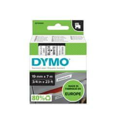 Dymo D1, 19mm/7m, trak za tiskanje nalepk, črno-bel (45803)