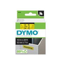 Dymo D1, 12mm/7m, trak za tiskanje nalepk, črno-rumen (45018)