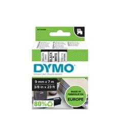 Dymo D1, 9mm/7m, trak za tiskanje nalepk, črno-bel (40913)