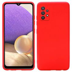 Ovitek za Samsung Galaxy A32 A325 LTE, silikonski, rdeč