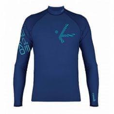 Hiko Férfi lycra póló SHADE PLUSH, hosszú ujjú kék 2XL