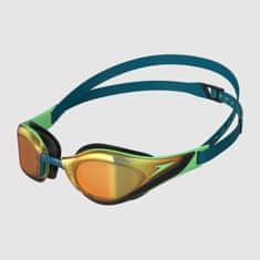 Speedo Fastskin Pure Focus Mirror plavalna očala, modro-zelena