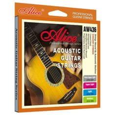 ALICE Strings pro akustickou kytaru aw436p-sl fosfor bronz,