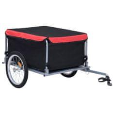 shumee Przyczepa rowerowa, transportowa, czarno-czerwona, 65 kg